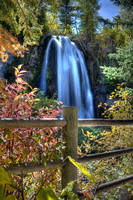 LITTLE SPEARFISH FALLS IN AUTUMN - HDR